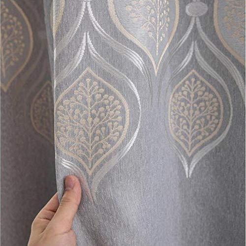 GHJYU Hign - Cortinas opacas de estilo europeo para sala de estar, 100% poliéster, con aislamiento térmico, cortinas personalizadas, color gris, 250 cm de ancho x 250 cm de largo