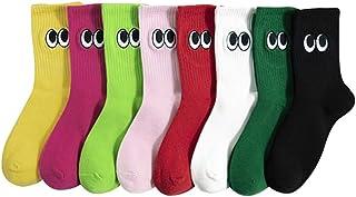 Yue668, Mme Sauvage - Calcetines de deporte para mujer, 8 colores grandes, bordados