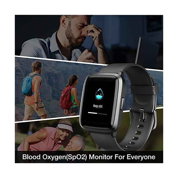 UMIDIGI Reloj Inteligente con Oxímetro (SpO2) Smartwatch con Monitoreo de Frecuencia Cardíaca para Hombre Reloj… 8