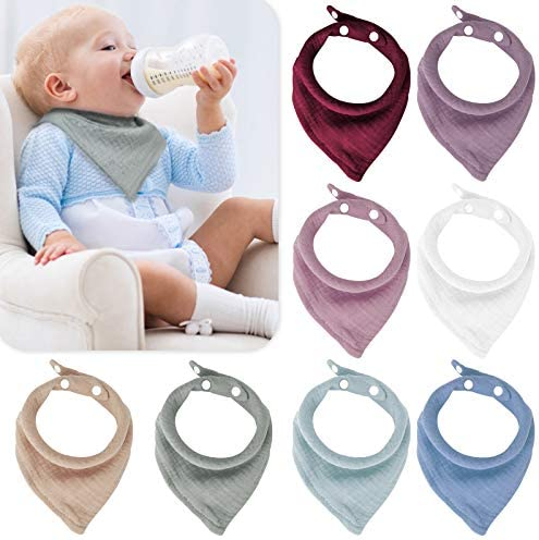 Muslin Baby Bandana Bibs Absorbent Drool Bibs for Baby Girls Boys Size Adjustable Bibs for Newborn product image