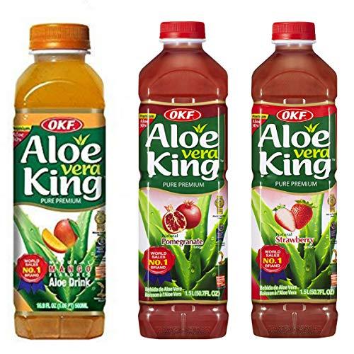 OKF Aloe Vera King - 1.5Lt - Pack-12 (Mango, Pomegranate, Strawberry)