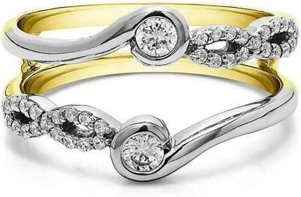 New product type Popularity Jewelry Gift 14K Two Tone Gold Finish Ct Sterling 925 1 Silver R