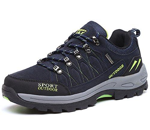 NEOKER Wanderschuhe Trekking Schuhe Herren Damen Sports Outdoor Hiking Sneaker Blau 44