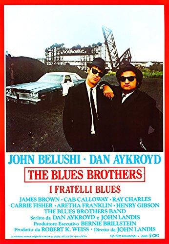 ConKrea POSTER MANIFESTO ORIGINALE CINEMA - The blues brother - Dimensione 70x100cm