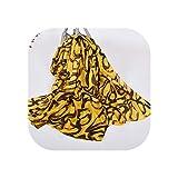 Sciarpa in seta satinata, alla moda, con stampa leopardata, scialle di seta, grande accessorio per il viso Graffiti giallo. Taglia unica
