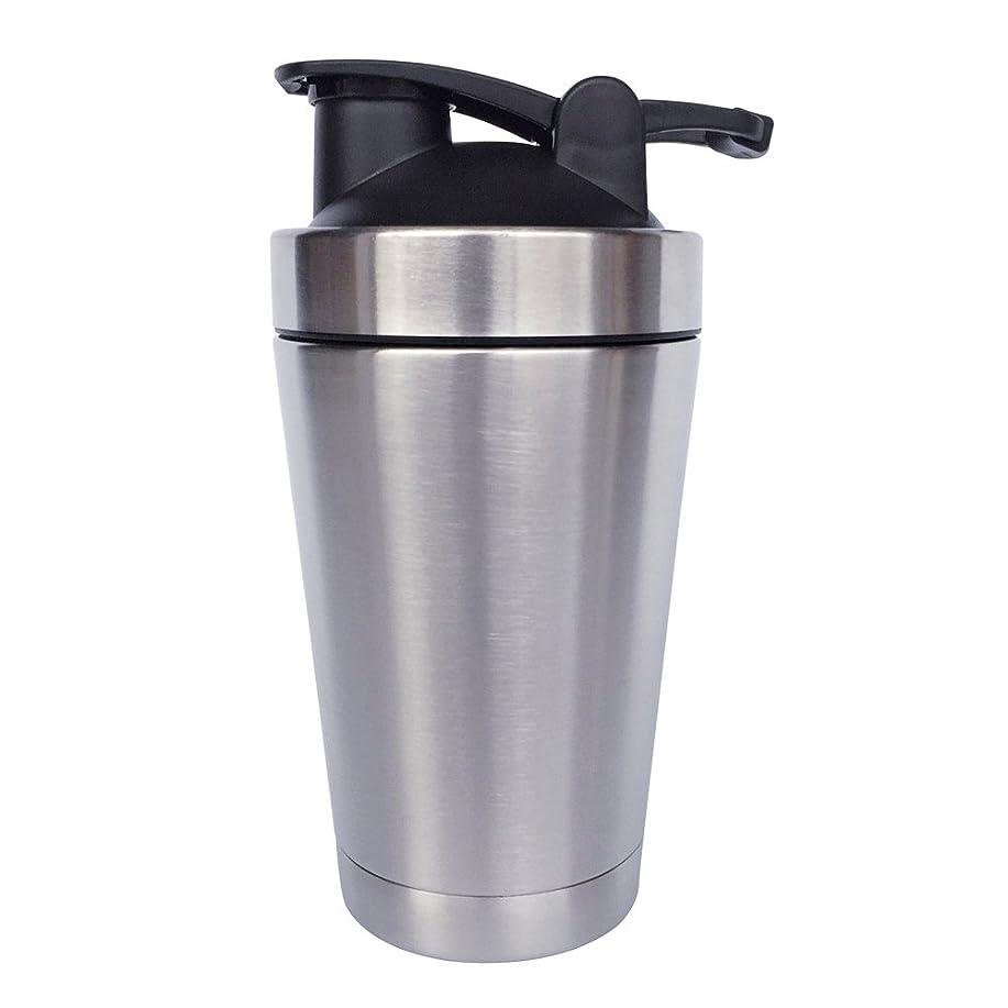 印をつける便利さサンダルステンレス鋼 スポーツウォーターボトル タンパク質ミルクセーキシェーカー?カップ 振ってボール 小さいサイズ 500ml