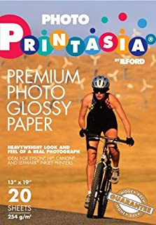 Ilford Printasia Gloss, 13 x 19 Inches, 20 Sheets per Pack (1139077)