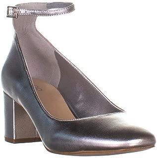 Womens Clarisse Suede Ankle Strap Block Heels