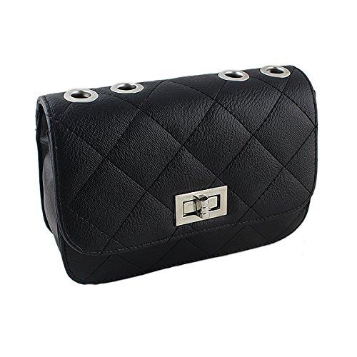Damen Mädchen Handtasche für Schmücken Farbigen Accessoreis (schwarz)