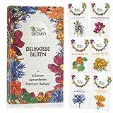 Essbare Blumen Samen Set: Premium Delikatess Blüten Blumensamen Set mit 6 Sorten Blumen Saatgut – Essbare Blüten Samen...