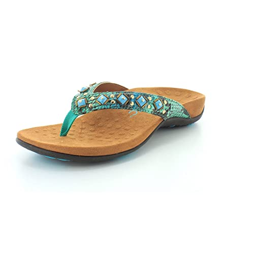 5f54767f6a36 Vionic Women s Rest Floriana Toepost Sandal - Ladies Flip Flops with Concealed  Orthotic Support