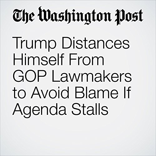 Trump Distances Himself From GOP Lawmakers to Avoid Blame If Agenda Stalls copertina