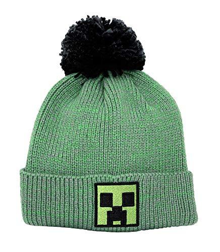 Minecraft Unisex Pom Beanie-Mütze, Green, One Size