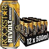 Rockstar Energy Drink Revolt Killer Ginger - Koffeinhaltiges Erfrischungsgetränk für den Energie Kick, EINWEG Im Camouflage Look, EINWEG (12x 500ml)