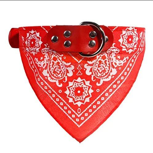PPKZY Lindo Lindo Collares de Perro pequeño Perrito Pet Slobber Toalla de Gato al Aire Libre Cuello de Gato Imprimir Bufanda Diseño Collar de Perro Cuello Cuello (Color : Red, Size : 2-M)