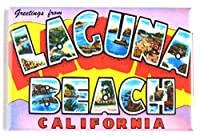 Greetings from Laguna Beach California 冷蔵庫マグネット (2 x 3インチ) スタイルB