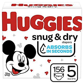 Huggies Snug and Dry Baby Diapers Size 5 156 Ct One Month Supply