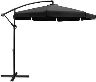 Instahut Umbrella Outdoor Umbrellas Cantilever Sun Garden Beach Patio Black 3M