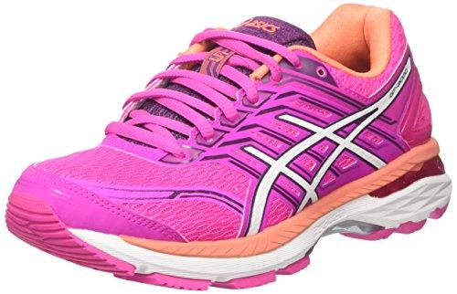 ASICS T757N2001, Zapatillas De Running para Mujer, Rosa (Pink Glow/White/Dark Purple), 35.5 EU