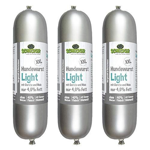 Schecker Saucisse pour chien XXL Light 3 x 800 g