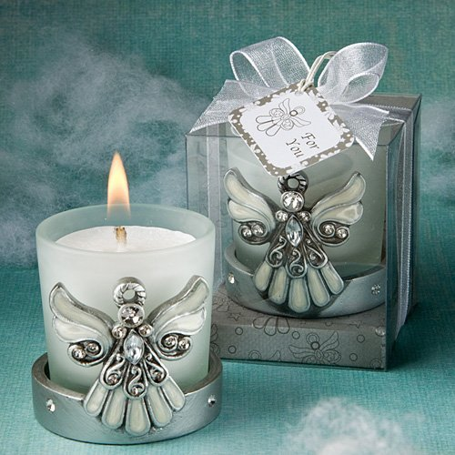 Regal Favor Collection angel themed candle holders (Set of 32)