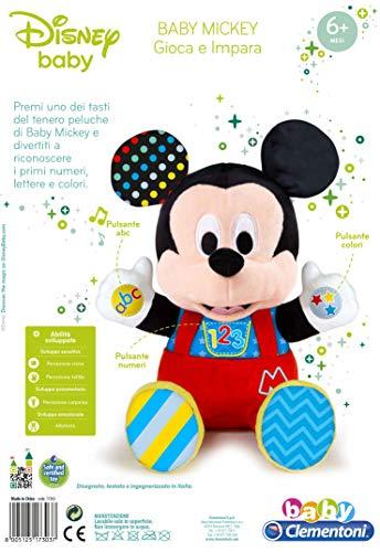 Clementoni Disney Baby Mickey Gioca e Impara, Peluche Parlante, Multicolore, Standard, 17303