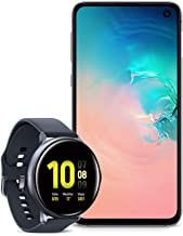 $898 » Samsung Galaxy S10e Factory Unlocked Phone with 128GB (U.S. Warranty), Prism White w/Samsung Galaxy Watch Active2 (44mm), Aqua Black - US Version with Warranty