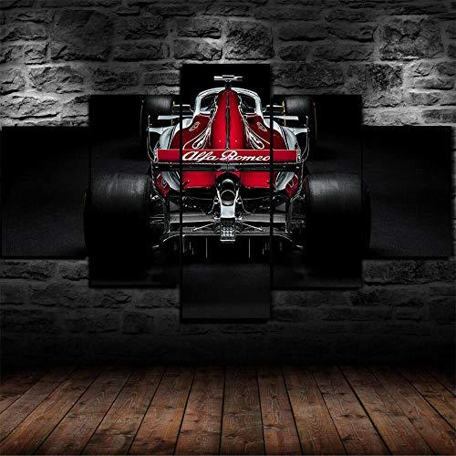 199Tdfc Drucken Sie Auf Leinwand Poster & Kunstdrucke Gerahmte Alfa Romeo Sauber C37 F1 Auto Poster 5 Stück Leinwanddruck Wandkunst Dekor