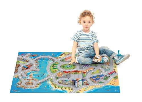 100 x 150 cm House of Kids 11227-E3 Playmat Quadri Zoo Connect
