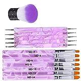 Cepillo Terapia de luz de Punto de Pluma de la Pluma del Taladro de acrílico de uñas Conjunto de 3 Piezas de Armadura para Nail Art Diseño Pintura Detallando