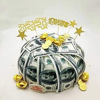 24 Precut 100 Dollar Bill Edible Money Image Wafer Paper for Cake Decorating Cupcake Decorations. Precut Edible Paper Fake Money.