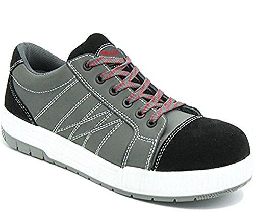Arbeitsschuhe Sicherheitsschuhe Schuhe Sneaker RALLOX 601 Größe 42 Nubuk Leder grau schwarz S3 Stahlkappe