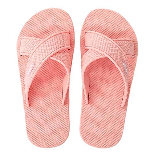 LLGG Baño Sandalia Suela De Suave,Sandalias de Masaje de Onda de Gran tamaño, Zapatillas de baño de baño-Rosa_38,Ultraligero cómodo y Antideslizante