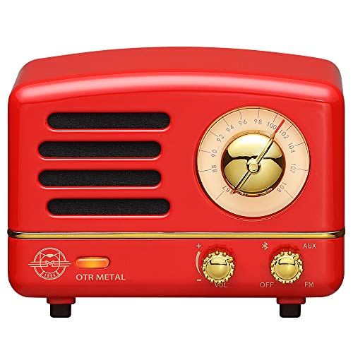 Retro Bluetooth Speaker, Muzen OTR Metal Vintage FM/AUX Radio with Old Fashioned Classic Style,...