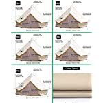 Sporttent Camping 4 Season Waterproof Cotton Canvas Bell Tent with Stove Hole and Cable Hole 13