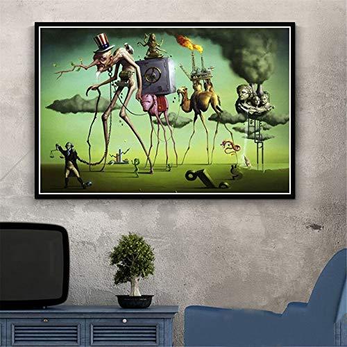 Puzzle 1000 piezas Pintura psicodélica retro Salvador Dali Surrealismo Arte de pared Abstracto en Juguetes y juegos Juego de habilidad para toda la familia, colorido juego de50x75cm(20x30inch)