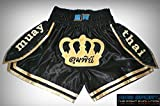 Muay Thai Shorts Shorts Thai Boxeo Kick Boxing MMA Satén King (Large)
