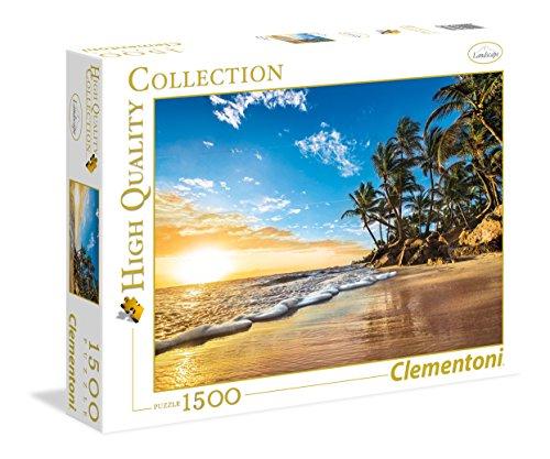 Clementoni-Los Pingüinos De Madagascar Puzzle 1500 Piezas Tropical Sunrise (31681), Multicolor