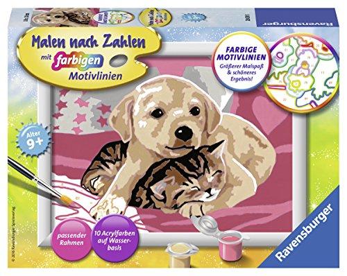Ravensburger Malen nach Zahlen 28031 - Gute Freunde - Für Kinder ab 9 Jahren