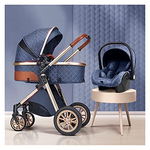 Silla de paseo ligera y compacta,cochecito de port 3-IN-1 Sistema de viaje Baby PRAM PARA NEWN NEWN, Cochecito de cuna reversible convertible en el paisaje de alto paisaje para bebés y niños pequeños,