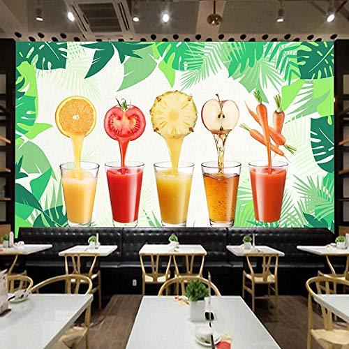 HGFHGD Papel tapiz mural 3D, cartel de jugo de fruta vegetal, supermercado, tienda de frutas, restaurante, decoración de cocina, pintura de pared, adhesivo para pared