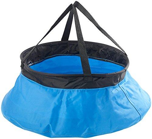 Seau de camping pliable en nylon - 10 L
