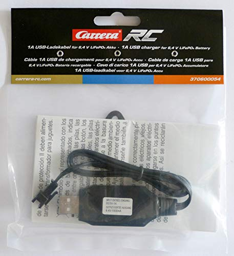 Carrera RC USB Cable 1A for LiFePo4 6,4V Batteries 370600054