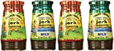 Walkerswood Variety Jerk Seasoning Four Pack - 2 Bottles Each of Hot & Mild