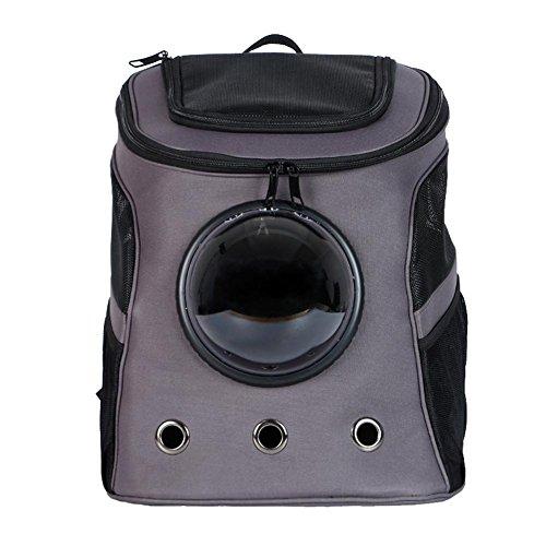 trasportino per animali domestici Zaino Oblò borsa a tracolla da viaggio per cani e gatti di piccola taglia , dark gray