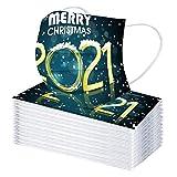 10-50 piezas Adulto Año nuevo Bufanda Bandanas para Protección al aire libre,Moda Velo de Cómodo Transpirables con Impresión 2021,Scarf Desechables
