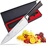 Chef Knife, AUGYMER 8 Inch Professional Chefs Knife Japanese High...