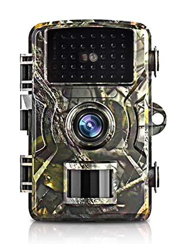 トレイルカメラ ,狩猟カメラ 防犯カメラフルHD IP66防水機能隠しカメラ 暗視カメラ 人感センサー 動き検知 防水設計 防犯カメラ トレイルカメラ 広角レンズ 1080P フルHD 不可視赤外線LEDライト搭載 暗視カメラ 防水カメラ 人感センサー 家庭 屋外 動物撮影 野外監視 車庫 駐車場用 配線