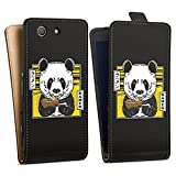 Étui Compatible avec Sony Xperia Z3 Compact Étui à Rabat Étui magnétique Panda Design Japon
