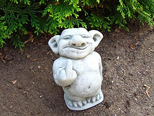 Steinfigur Troll Gnom Gartenfiguren für Garten Deko Teich FantasiefigurSteinfigur Troll Gnom Gartenfiguren für Garten Deko Teich...